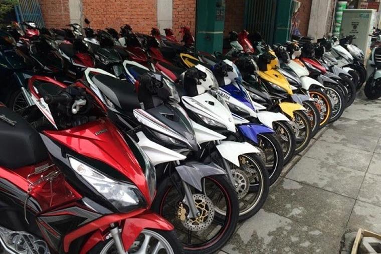 Dàn xe máy của cửa hàng xe máy cũ Ngọc Tuấn