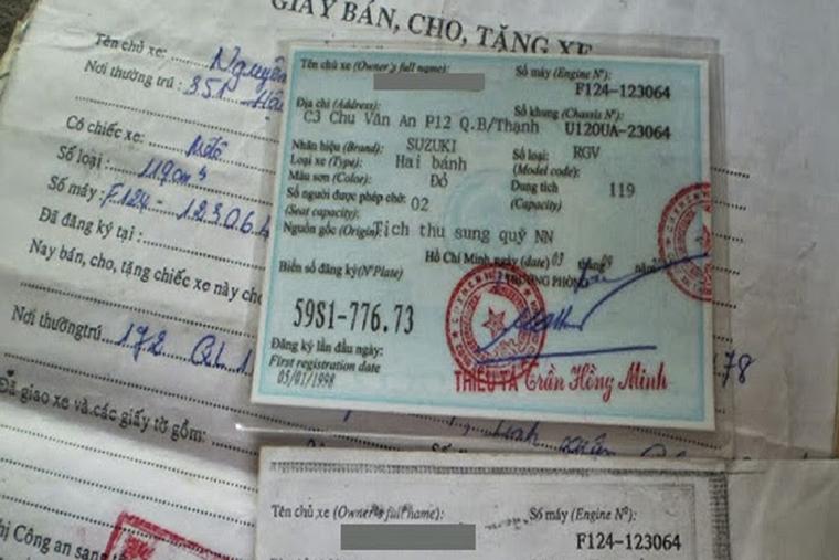 Kiểm tra giấy tờ xe SH cũ kỹ càng trước khi mua